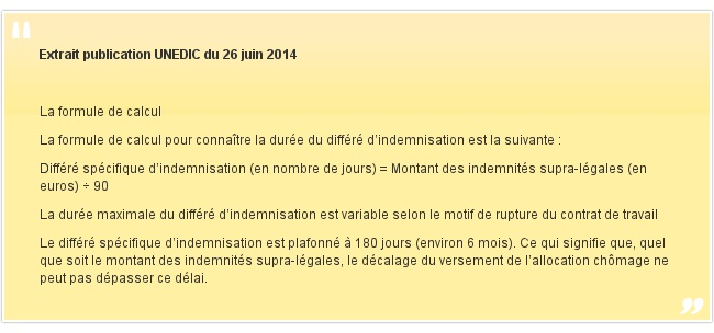 Extrait publication UNEDIC du 26 juin 2014
