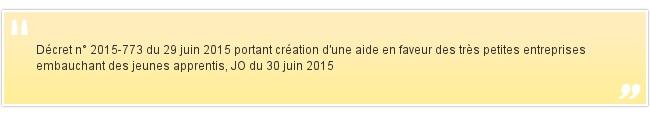 Décret n° 2015-773 du 29 juin 2015 p...