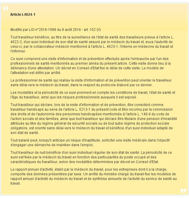 Article L4624-1