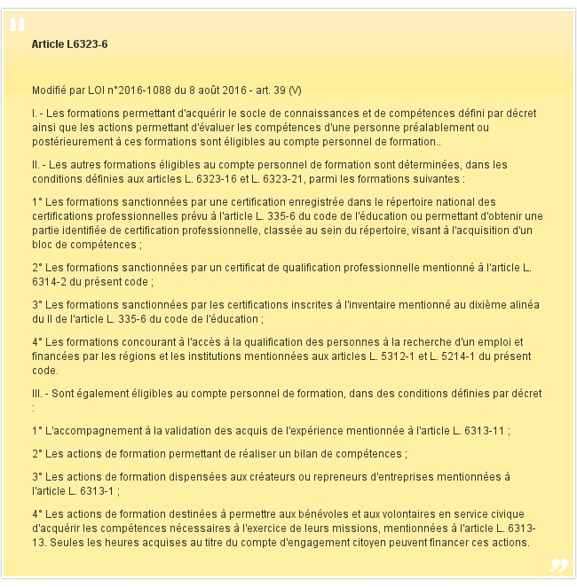 Article L6323-6