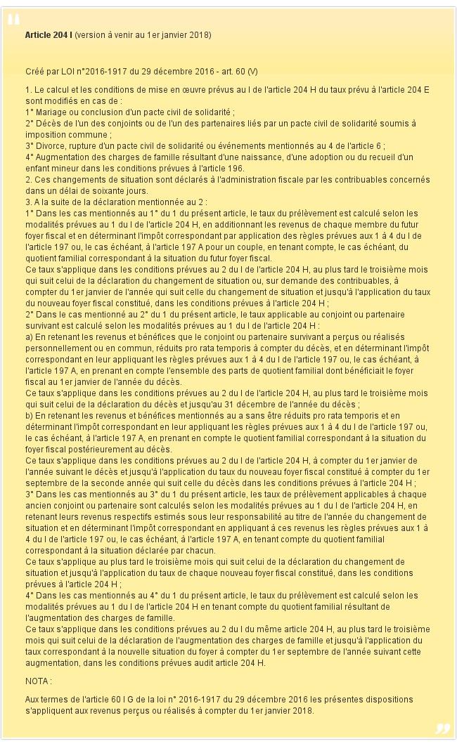 Article 204 I