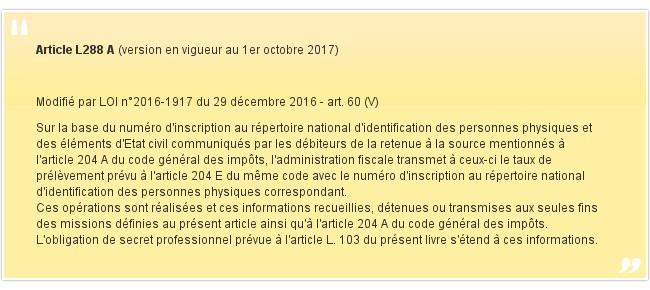 Article L288 A