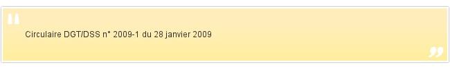 Circulaire DGT/DSS n° 2009-1 du 28 janvier ...