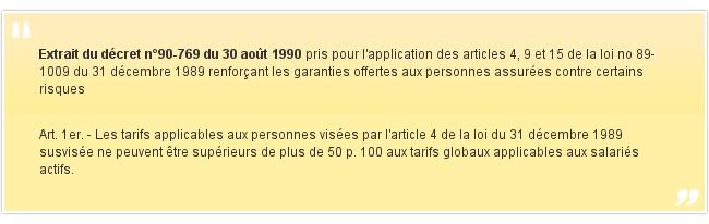 Extrait du décret n°90-769 du 30 août 1990