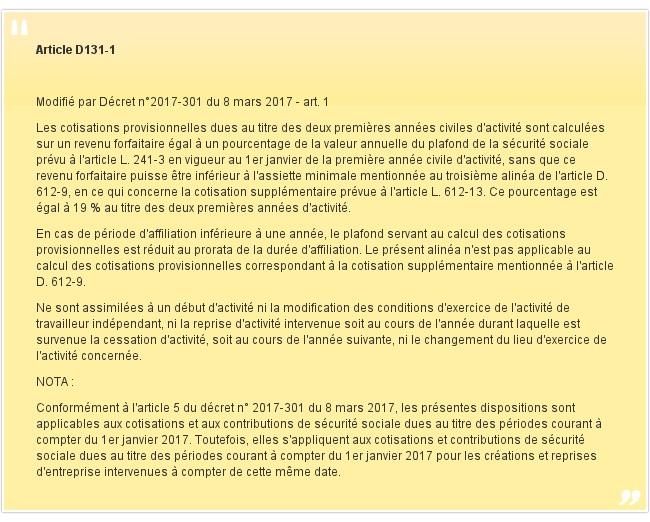 Article D131-1