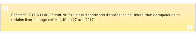 Décret n° 2017-633 du 25 avril 2017 ...