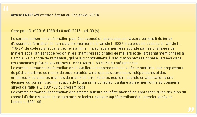 Article L6323-29