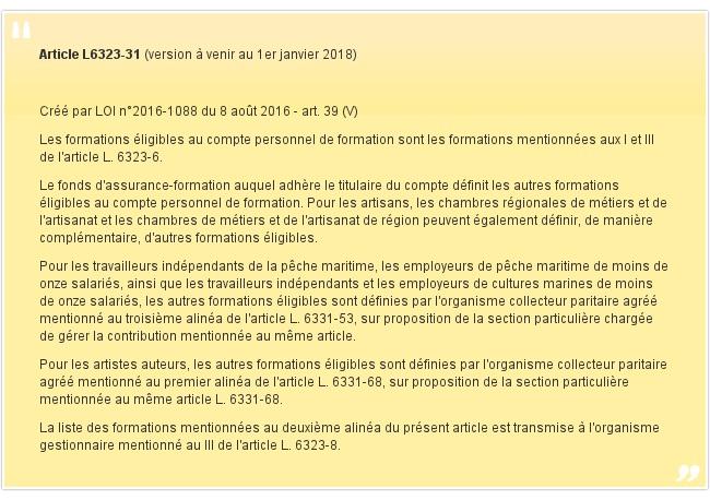 Article L6323-31