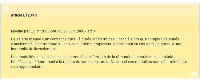 Article L1234-9