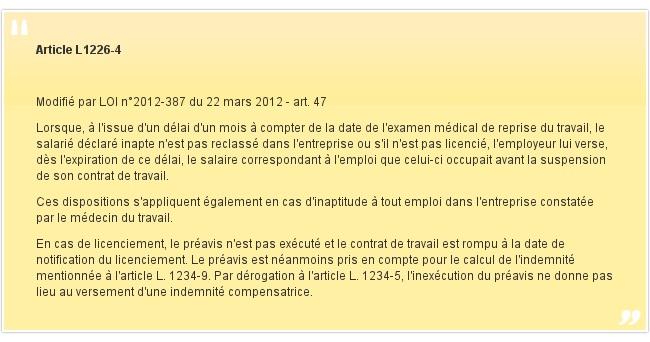 Article L1226-4