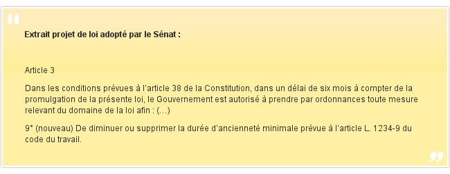 Extrait projet de loi adopté par le Sénat: