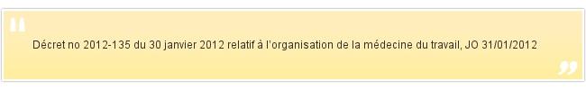 Décret no 2012-135 du 30 janvier 2012 re...