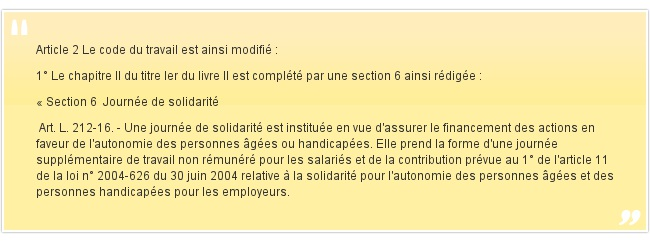 Article 2 Le code du travail est ainsi modifi&e...