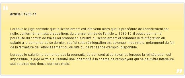 Article L1235-11