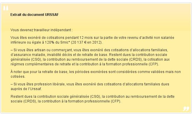 Extrait du document URSSAF