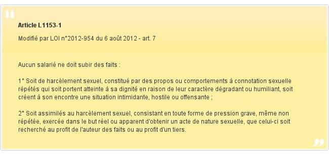 Article L1153-1