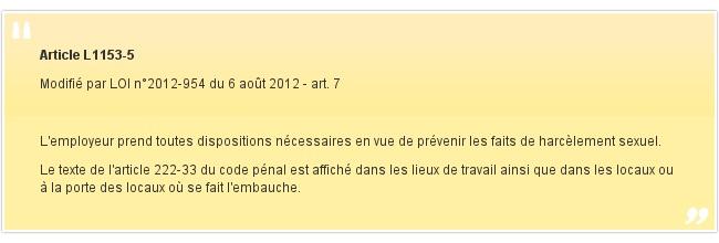 Article L1153-5