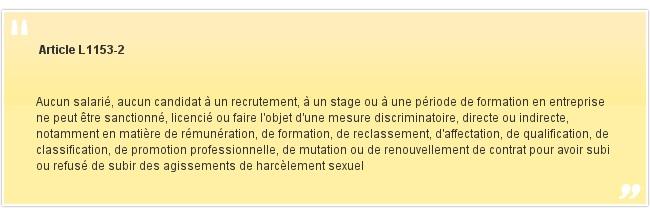 Article L1153-2