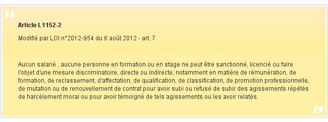 Article L1152-2