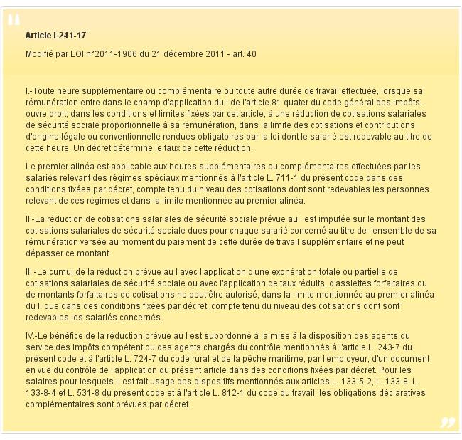 Article L241-17