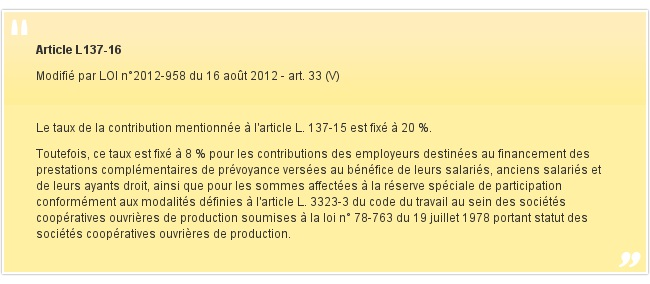 Article L137-16