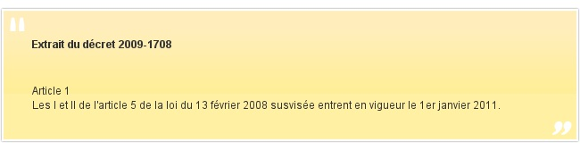 Extrait du décret 2009-1708