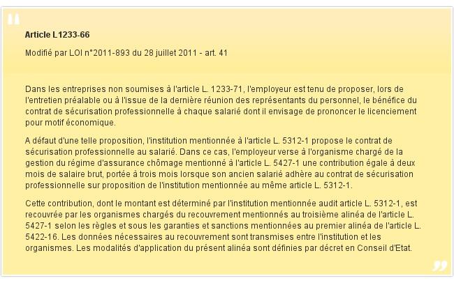 Article L1233-66