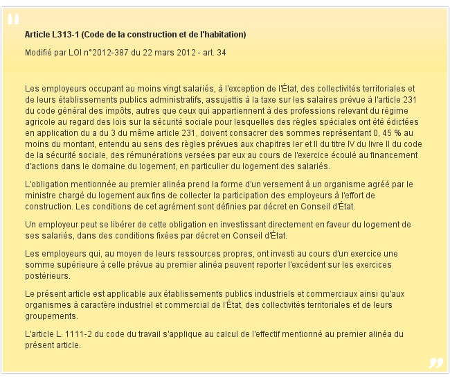Article L313-1 (Code de la construction et de l'habitation)