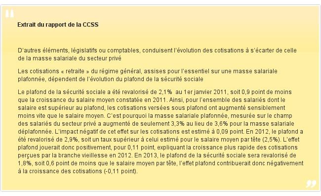 Extrait du rapport de la CCSS