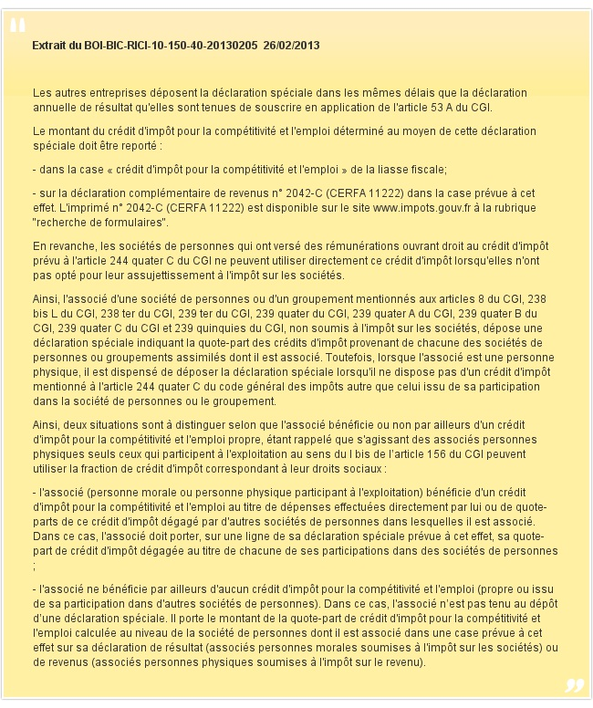 Extrait du BOI-BIC-RICI-10-150-40-20130205 26/02/2013