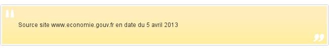 Source site www.economie.gouv.fr en date du 5 a...