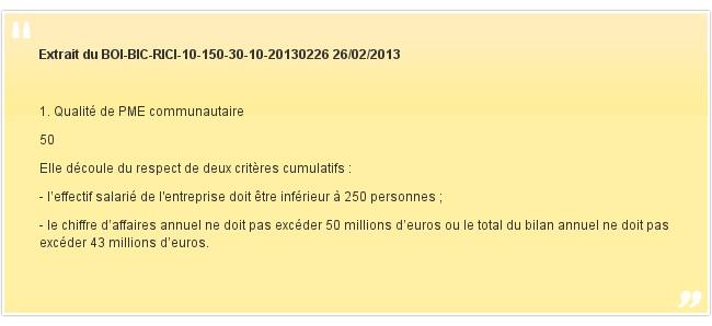 Extrait du BOI-BIC-RICI-10-150-30-10-20130226 26/02/2013